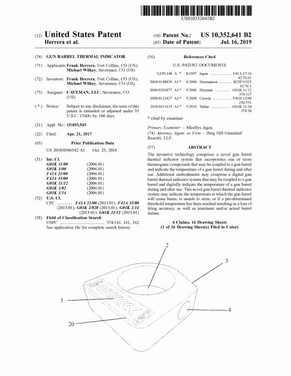 Caveman LLC patent